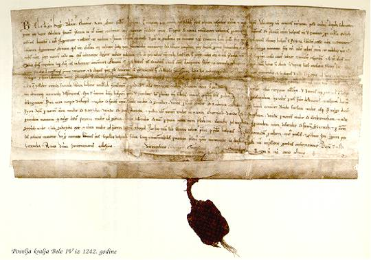 The Charter Of Bela IV